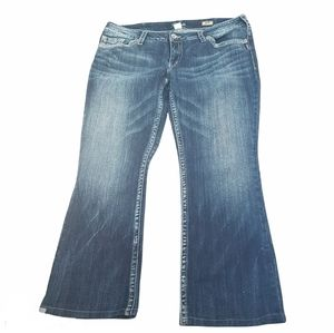 Silver Aiko Bootcut Dark Wash Faded Jeans
